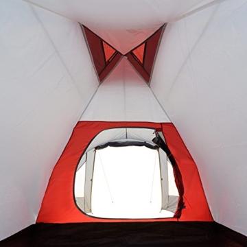 JUSTCAMP Campingzelt Scott 4, mit Vorraum; Iglu-Zelt für 4 Personen (doppelwandig) - grau - 9