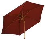 Kai Wiechmann Sonnenschirm Sunshine ø 240 cm, rot, UV-Schutz 50+ ✓ kippbar ✓ Windauslass ✓ - 1