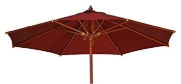 Kai Wiechmann Sonnenschirm Sunshine ø 300 cm Garten, rot, UV-Schutz 50+ ✓ mit Windauslass ✓ - 1
