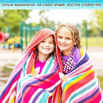 KBNIAN 2 Stück Strandtuchklammern Eiscreme Strandtuch Clips Kunststoff Strandtuch Handtuchclips Mehrzweck Handtuchklammern, für Strandtücher, Badetücher, Handtuch, Teppiche, Kleidung - 3