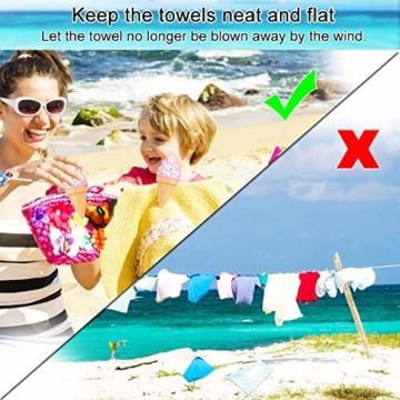 KBNIAN 2 Stück Strandtuchklammern Eiscreme Strandtuch Clips Kunststoff Strandtuch Handtuchclips Mehrzweck Handtuchklammern, für Strandtücher, Badetücher, Handtuch, Teppiche, Kleidung - 5