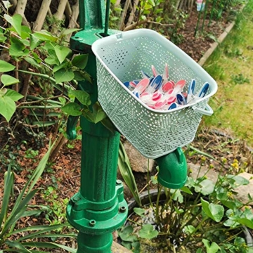 Kerafactum Klammer Korb Körbchen für Wäscheklammer | Wäscheklammerkorb zum aufhängen | Klammerkorb Klammerbeutel in Korb Form | Wäscheklammern aufbewahren Wäsche Klammern Körbchen | Farbe Beere - 3