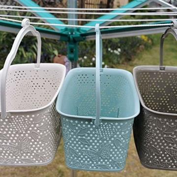 Kerafactum Klammer Korb Körbchen für Wäscheklammer | Wäscheklammerkorb zum aufhängen | Klammerkorb Klammerbeutel in Korb Form | Wäscheklammern aufbewahren Wäsche Klammern Körbchen | Farbe Beere - 4