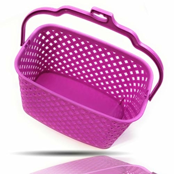 Kerafactum Klammer Korb Körbchen für Wäscheklammer | Wäscheklammerkorb zum aufhängen | Klammerkorb Klammerbeutel in Korb Form | Wäscheklammern aufbewahren Wäsche Klammern Körbchen | Farbe Beere - 1
