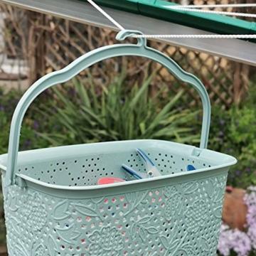 Kerafactum Klammer Korb Körbchen für Wäscheklammer | Wäscheklammerkorb zum aufhängen | Klammerkorb Klammerbeutel in Korb Form | Wäscheklammern aufbewahren Wäsche Klammern Körbchen | Farbe Beere - 7