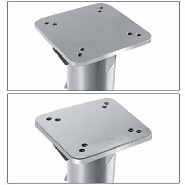 KESSER® - Metall Universal-Bodenplatte Sonnenschirmständer für Sonnenschirm - Ampelschirm - Kurbelschirm | Bodenanker (Metall Silber) - 2