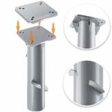 KESSER® - Metall Universal-Bodenplatte Sonnenschirmständer für Sonnenschirm - Ampelschirm - Kurbelschirm | Bodenanker (Metall Silber) - 1