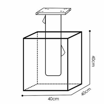 KESSER® - Metall Universal-Bodenplatte Sonnenschirmständer für Sonnenschirm - Ampelschirm - Kurbelschirm | Bodenanker (Metall Silber) - 3