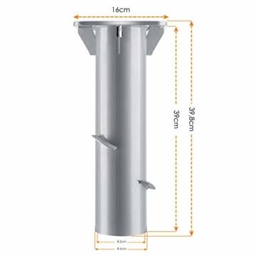 KESSER® - Metall Universal-Bodenplatte Sonnenschirmständer für Sonnenschirm - Ampelschirm - Kurbelschirm | Bodenanker (Metall Silber) - 7