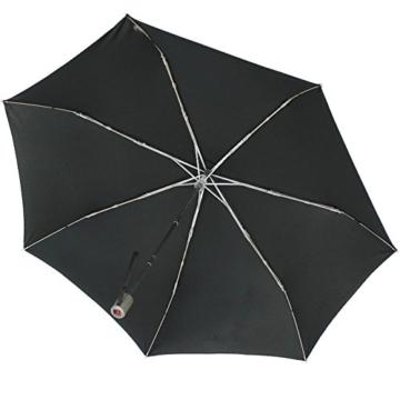 Knirps Regenschirm Slim Duomatic - klein und leicht mit Auf-Zu Automatik - Black - 3