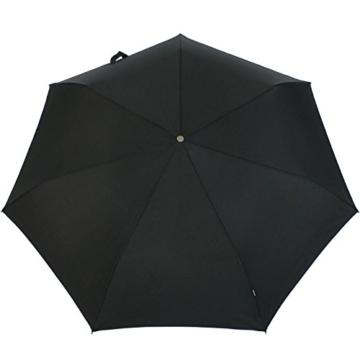 Knirps Regenschirm Slim Duomatic - klein und leicht mit Auf-Zu Automatik - Black - 4