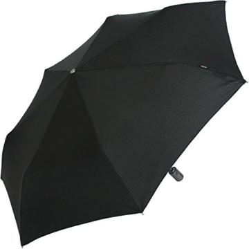 Knirps Regenschirm Slim Duomatic - klein und leicht mit Auf-Zu Automatik - Black - 5