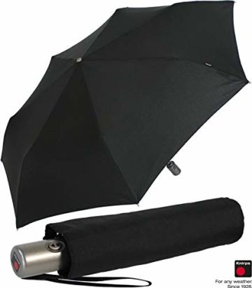 Knirps Regenschirm Slim Duomatic - klein und leicht mit Auf-Zu Automatik - Black - 7
