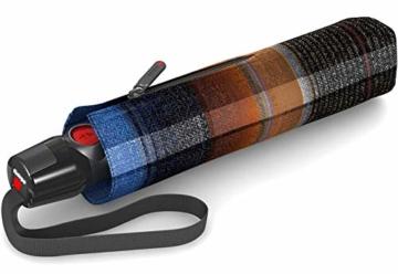 Knirps T.200 Medium Duomatic Regenschirm Taschenschirm T200 Auf-Zu Automatik Ingrid Blue - 3