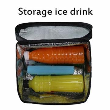 LEBEXY Kühltasche Eistasche Picknicktasche Lunch Tasche faltbar, 10L, Schwarz - 4