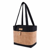 Lekesky Kühltasche Klein 11 L Lunchtasche für Damen Arbeit coolerbag Black Thermotasche Lunch, Schwarz - 1