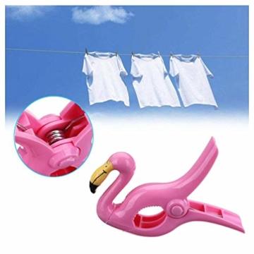 LHKJ 1 Paar Flamingo Handtuchklemmen,Kunststoff Strandtuchklammern Handtuch Clips Wäscheklammern - 5