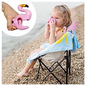LHKJ 1 Paar Flamingo Handtuchklemmen,Kunststoff Strandtuchklammern Handtuch Clips Wäscheklammern - 6