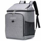 Lifewit 26L Kühlrucksack Thermo Rucksack Kühltasche Isolierte Cooler Bag Weich Doppeldecker für Picknick/BBQs/Camping/Ausflügen/Einkaufen, Grau - 1