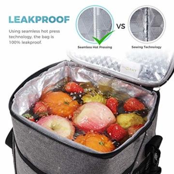 Lifewit Kühltasche klein Kühlbox faltbar Lunchtasche Mittagessen Tasche Thermotasche Isoliertasche Picknicktasche für Lebensmitteltransport Arbeit Picknick - 3