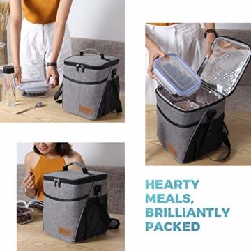 Lifewit Kühltasche klein Kühlbox faltbar Lunchtasche Mittagessen Tasche Thermotasche Isoliertasche Picknicktasche für Lebensmitteltransport Arbeit Picknick - 7