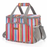 LUNCIA 15L Kühltasche Thermotasche Cooler Bag Lunchtasche Thermo Tasche Picknicktasche isoliert faltbar für Lebensmitteltransport - 1