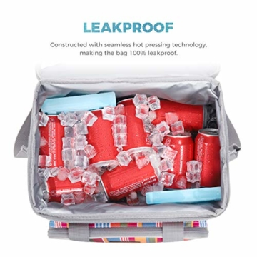 LUNCIA 15L Kühltasche Thermotasche Cooler Bag Lunchtasche Thermo Tasche Picknicktasche isoliert faltbar für Lebensmitteltransport - 6