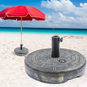 Lvhan Sonnenschirm Schirmständer - Sonnenschirmständer befüllbar mit Wasser oder Sand,Balkonschirmständer für Garten, Terrasse,Balkon - 2