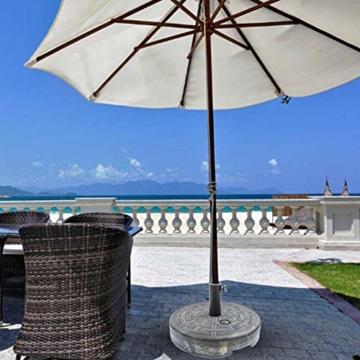 Lvhan Sonnenschirm Schirmständer - Sonnenschirmständer befüllbar mit Wasser oder Sand,Balkonschirmständer für Garten, Terrasse,Balkon - 4
