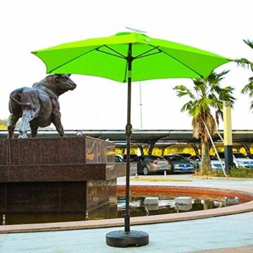 Lvhan Sonnenschirm Schirmständer - Sonnenschirmständer befüllbar mit Wasser oder Sand,Balkonschirmständer für Garten, Terrasse,Balkon - 7