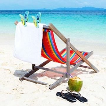 LYTIVAGEN 2 Stück Strandtuch Clips Badetuch Klammer Boca Clips Kunststoff Wäscheklammern für Strandtuch, Badetuch, Handtuch, Kleidung - 3