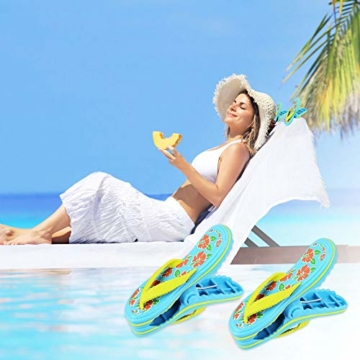 LYTIVAGEN 2 Stück Strandtuch Clips Badetuch Klammer Boca Clips Kunststoff Wäscheklammern für Strandtuch, Badetuch, Handtuch, Kleidung - 5