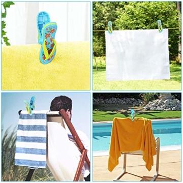 LYTIVAGEN 2 Stück Strandtuch Clips Badetuch Klammer Boca Clips Kunststoff Wäscheklammern für Strandtuch, Badetuch, Handtuch, Kleidung - 7