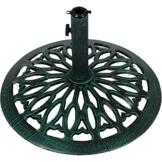 Maxstore Sonnenschirmständer Gusseisen grün, 17 kg - 1