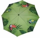 Meinposten. Sonnenschirm grün Strandschirm Vogel Flamingo 180 cm UV-Schutz 40+ Balkonschrim (Vogel) - 1