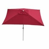 Mendler Sonnenschirm N23, Gartenschirm, 2x3m rechteckig neigbar, Polyester/Alu 4,5kg ~ Bordeaux - 1