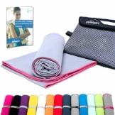Mikrofaser Handtuch Set - Microfaser Handtücher für Sauna, Fitness, Sport I Strandtuch, Sporthandtuch I 1x XXL(200x90cm) I Pink - 1