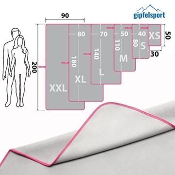 Mikrofaser Handtuch Set - Microfaser Handtücher für Sauna, Fitness, Sport I Strandtuch, Sporthandtuch I 1x XXL(200x90cm) I Pink - 4