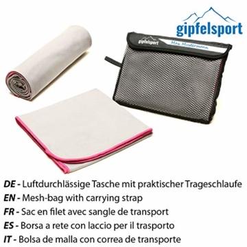 Mikrofaser Handtuch Set - Microfaser Handtücher für Sauna, Fitness, Sport I Strandtuch, Sporthandtuch I 1x XXL(200x90cm) I Pink - 6