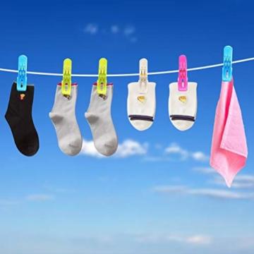 Moyad 8 Stück große Wäscheklammern Clips Handtücher Towel Winddicht Klammern auf Strand und Sonnenliegen für Wäsche, Strandtuch, Badetuch, Teppich - 2