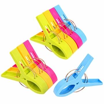 Moyad 8 Stück große Wäscheklammern Clips Handtücher Towel Winddicht Klammern auf Strand und Sonnenliegen für Wäsche, Strandtuch, Badetuch, Teppich - 1