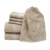 my cocooning Handtuch Set Agatha 6-teilig Beige   kuschelweich & saugfähig   100% Baumwolle   2X große Duschtücher (70x140cm) & 4X kleine Handtücher (50x80cm)   waschmaschinenfest - 1