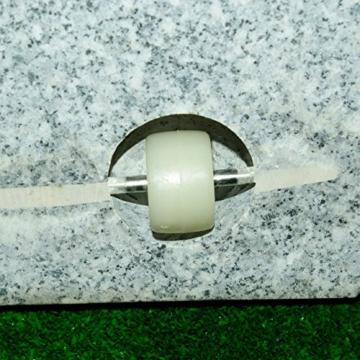 Nexos Schirmständer Sonnenschirmständer Granit eckig 45x45cm Steindicke 5cm ca. 40kg Edelstahlrohr Griff Rollen grau - 2