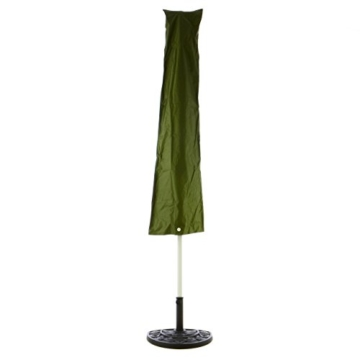 Nexos Schirmständer Sonnenschirmständer Gussoptik Polyresin halbrund Ø 49cm Plattenstärke 6,5cm ca. 9kg Stahlrohr lackiert Reduzierring schwarz - 5