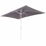 Nexos Sonnenschirm Marktschirm Rechteckschirm 2x3m anthrazit eckig Kurbel Sonnenschutz Garten Camping Terrasse Gestänge aus Stahl Farbe wählbar - 1