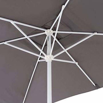 Nexos Sonnenschirm Marktschirm Rechteckschirm 2x3m anthrazit eckig Kurbel Sonnenschutz Garten Camping Terrasse Gestänge aus Stahl Farbe wählbar - 3
