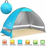 NOTENS Strandmuschel, Pop up Strandzelt Shelter für 2-4 Personen Portable Beach Zelt, Outdoor Tragbar Wurfzelt UV-Schutz, Strand Muschel Zelt für Familie BBQ Strand Garten Camping Blau - 1