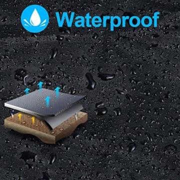 otumixx Ampelschirm Schutzhülle mit Stab, 2 bis 4 M Große Sonnenschirm Schutzhülle Wasserdicht UV-Anti Winddicht Sonnenschirmhülle für Ampelschirm, 280x30/81/45cm - Schwarz - 2