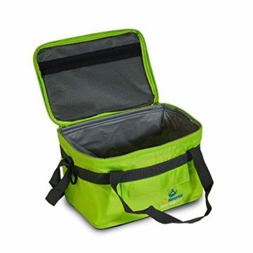 outdoorer Kleine Kühltasche Cool Butler 6, grün, mit Außentasche - 2
