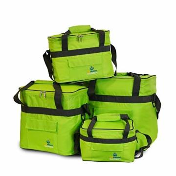 outdoorer Kleine Kühltasche Cool Butler 6, grün, mit Außentasche - 3